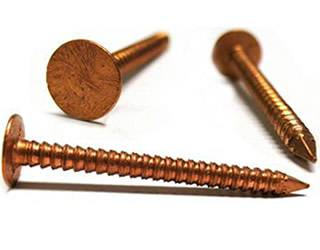 Three Copper Roofing Nails