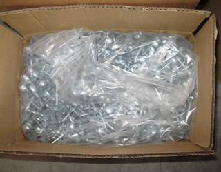 A carton of galvanized roofing nails