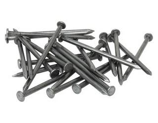 Several roofing nails from stainless steel wire